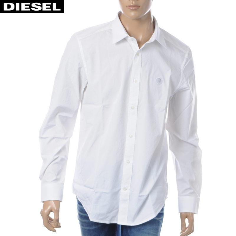 ディーゼル DIESEL コットンシャツ 長袖 メンズ S-BILL 00SHYK-0DAUU ホワイト