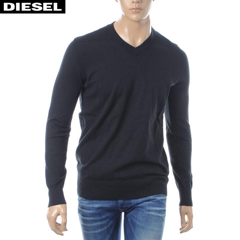 ディーゼル DIESEL Vネックニット メンズ K-AROUD 00SH3U-00WDE ブラック