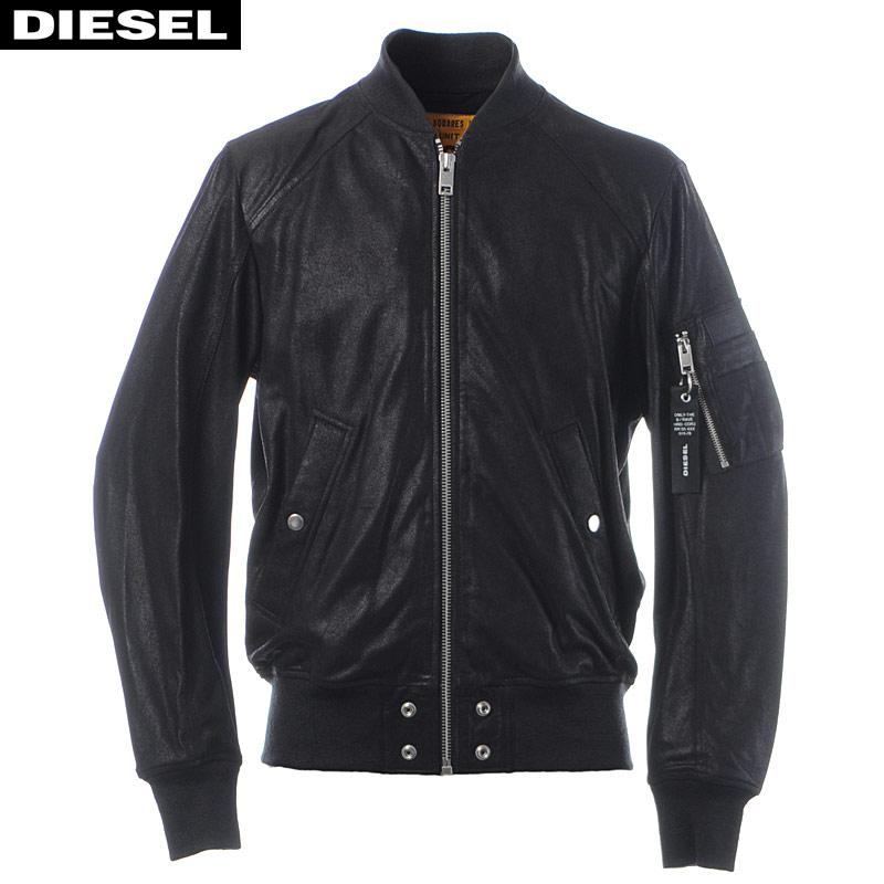 ディーゼル DIESEL レザージャケット メンズ アウター ブルゾン L-NIKOLAI 00SUDB-0AAVW ブラック