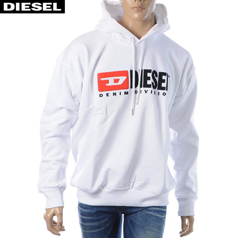 ディーゼル DIESEL プルオーバーパーカー スウェット メンズ S-DIVISION 00SH34-0CATK ホワイト