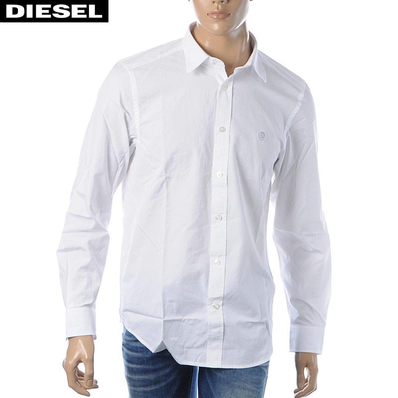 ディーゼル DIESEL カジュアルシャツ 長袖 メンズ S-BILL 00SHYK-0DAUU ホワイト