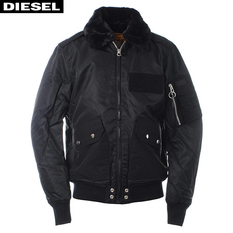 ディーゼル DIESEL ミリタリージャケット メンズ アウター W-SLOTKIN-A 00SYI9-0HATA ブラック