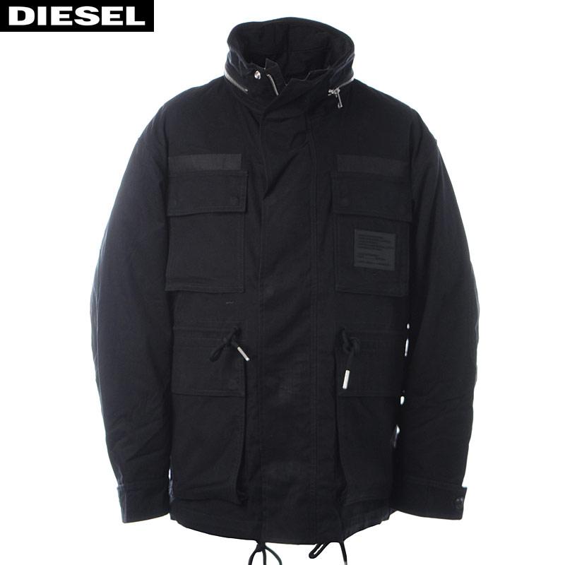 ディーゼル DIESEL ミリタリージャケット メンズ アウター J-TOUCHIN 00SY8Y-0HAVC ブラック