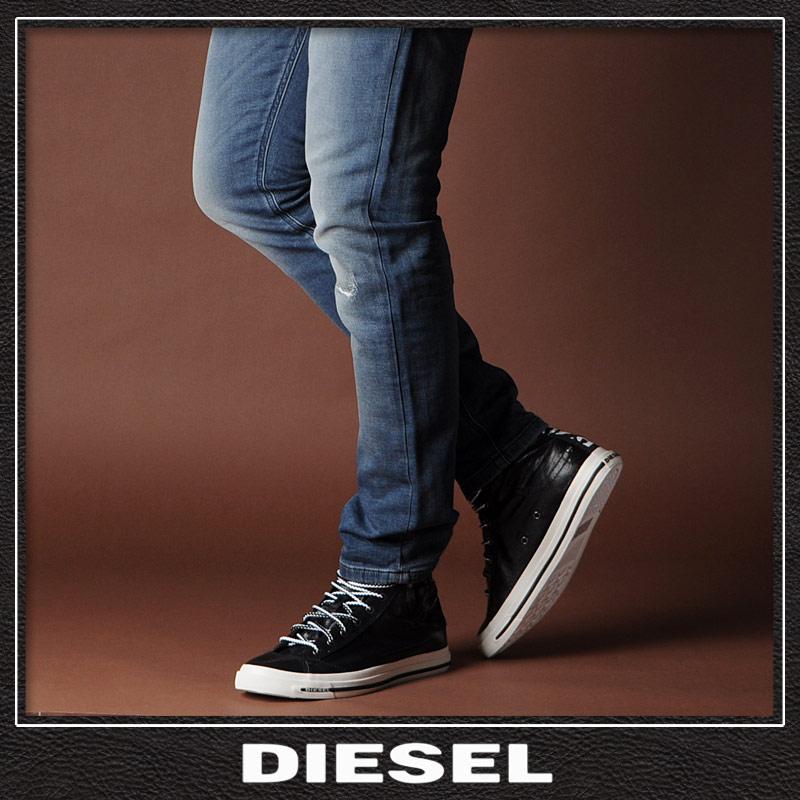 ディーゼル DIESEL キャンバススニーカー ハイカット メンズ EXPOSURE I Y00023 PR402 ブラックeCdBorx
