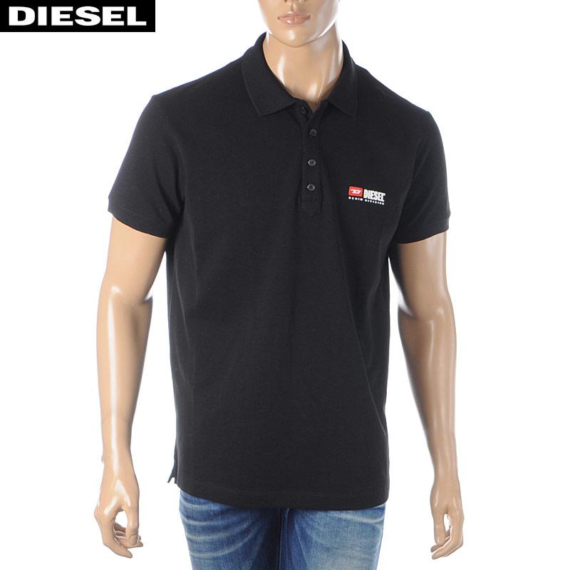 ディーゼル DIESEL ポロシャツ メンズ 半袖 T-WEET-DIV 00SY86-0BAWH ブラック 2020春夏新作