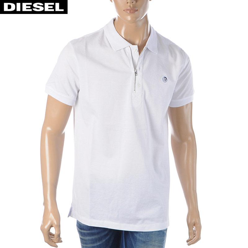 ディーゼル DIESEL ポロシャツ メンズ 半袖 T-HART 00SJ6N-0CATI ホワイト 2020春夏新作