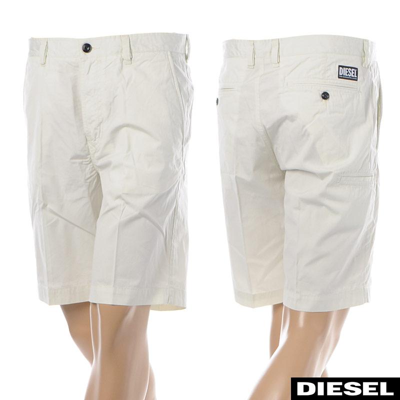 ディーゼル DIESEL チノショートパンツ メンズ P-MATTHEW 00SFFS-0GAUY ホワイト 2020春夏新作