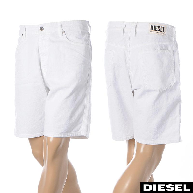 ディーゼル DIESEL デニムショートパンツ メンズ D-WILLOH 00SEDH-069EA ホワイト 2020春夏新作