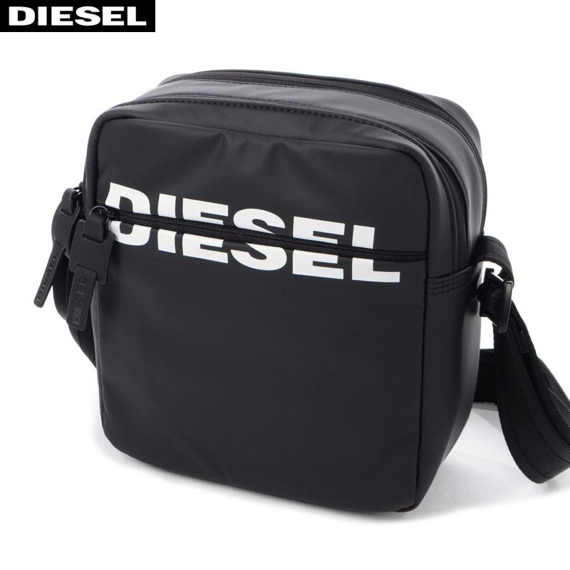 ディーゼル DIESEL ショルダーバッグ メンズ DOUBLECROSS X06591 P1705 ブラック 2020春夏新作WD9IeEHY2