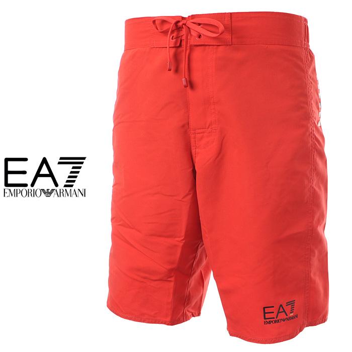 エンポリオアルマーニ EA7 EMPORIO ARMANI 水着 サーフパンツ 海パン レッド メンズ 902006 7P730
