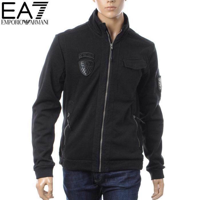 エンポリオアルマーニ EMPORIO ARMANI EA7 スウェットブルゾン メンズ ジャケット 6YPB51 PJF7Z ブラック