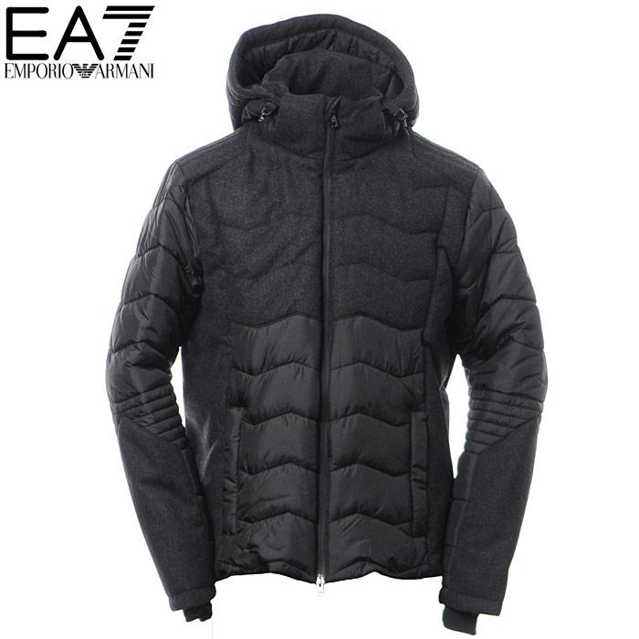 エンポリオアルマーニ EMPORIO ARMANI EA7 ナイロンジャケット メンズ アウター ブルゾン 6YPB27 PN22Z ブラック