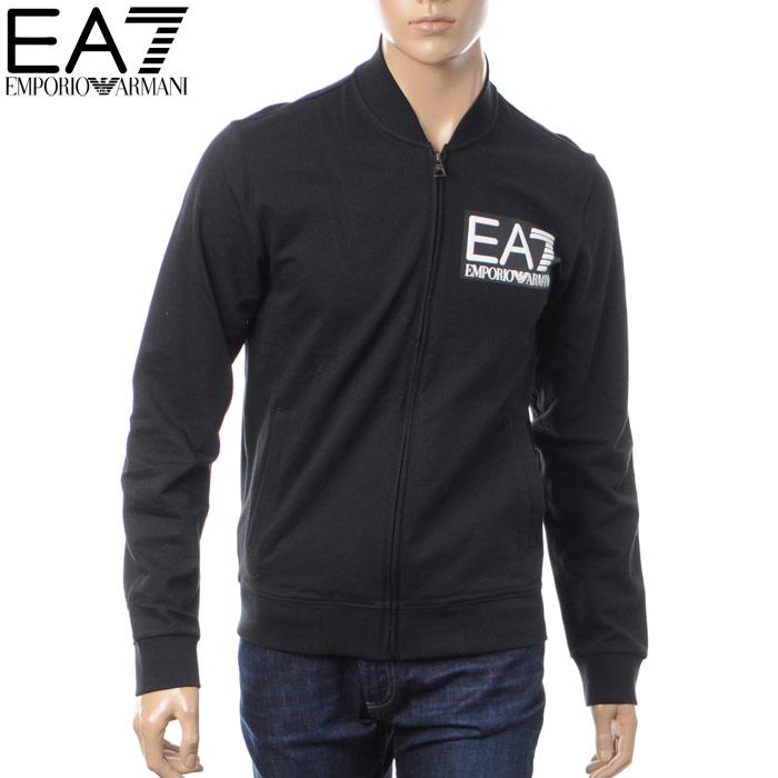 エンポリオアルマーニ EMPORIO ARMANI EA7 ジップアップスウェット トラックジャケット メンズ 6YPM96 PJ05Z ブラック