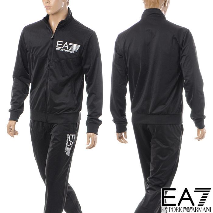 エンポリオアルマーニ EA7 EMPORIO ARMANI スウェットセットアップ メンズ ジャージ 3ZPV63 PJ08Z ブラック