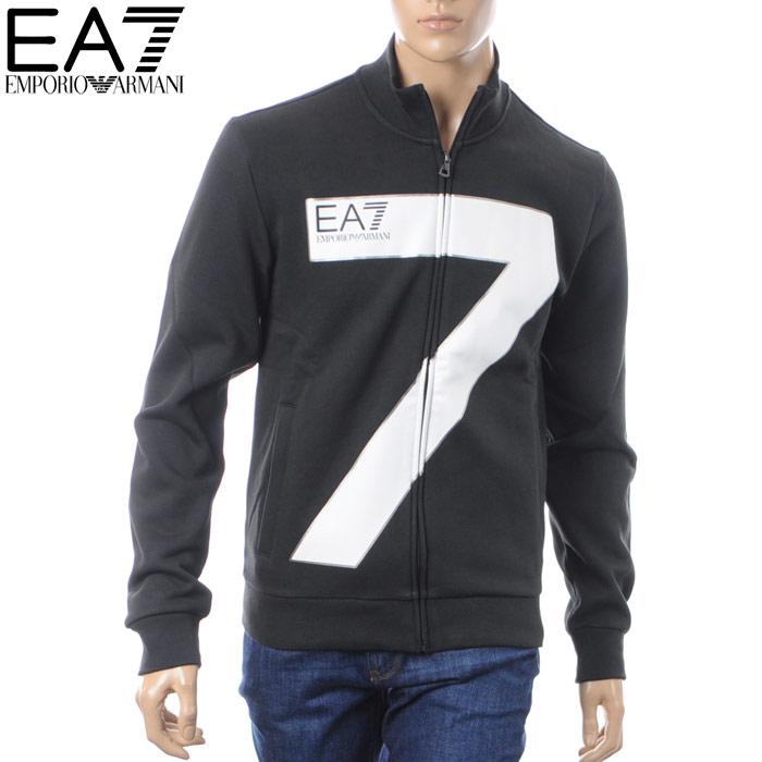 エンポリオアルマーニ EA7 EMPORIO ARMANI ジップアップスウェット メンズ 6ZPM48 PJ07Z ブラック