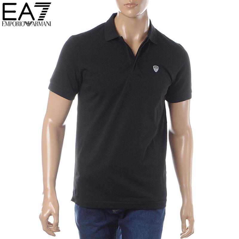 エンポリオアルマーニ EMPORIO ARMANI EA7 ポロシャツ 半袖 メンズ 3GPF08 PJP6Z ブラック