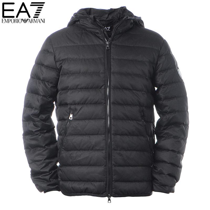 エンポリオアルマーニ EA7 EMPORIO ARMANI ダウンジャケット メンズ アウター ブルゾン 6GPB15 PNT0Z ブラック