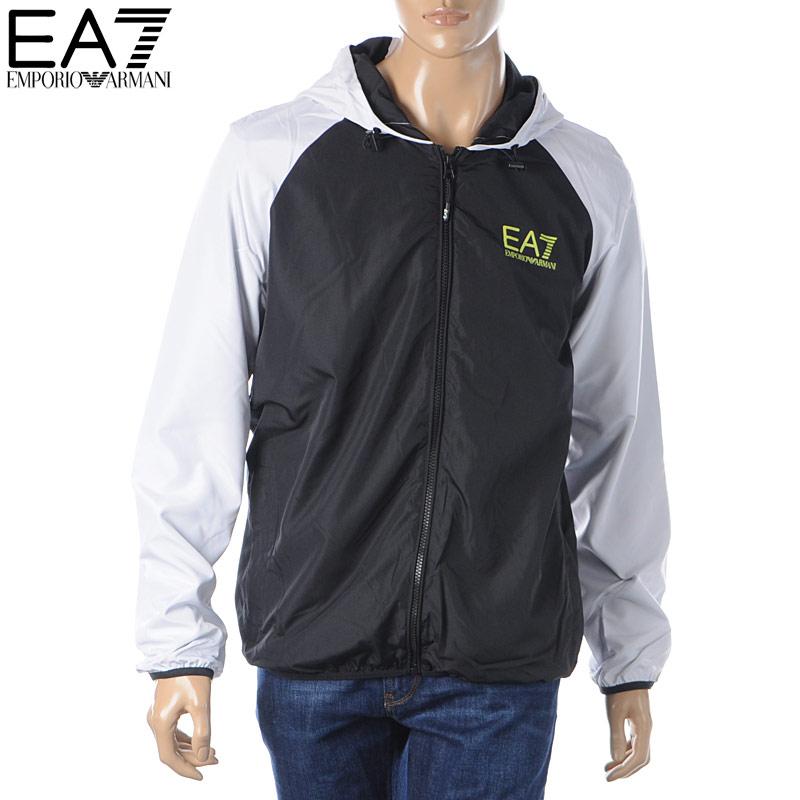 エンポリオアルマーニ EMPORIO ARMANI EA7 ナイロンジャケット ブルゾン メンズ アウター 6GPB04 PN28Z ブラック