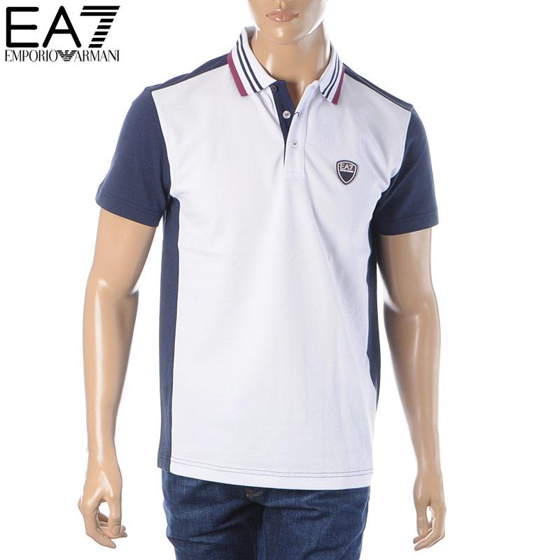 エンポリオアルマーニ EMPORIO ARMANI EA7 ポロシャツ 半袖 メンズ 3HPF14 PJ61Z ホワイト 2020春夏新作
