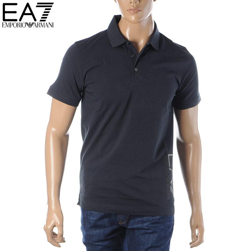 エンポリオアルマーニ EMPORIO ARMANI EA7 ポロシャツ 半袖 メンズ 3HPF16 PJ03Z ネイビー 2020春夏新作