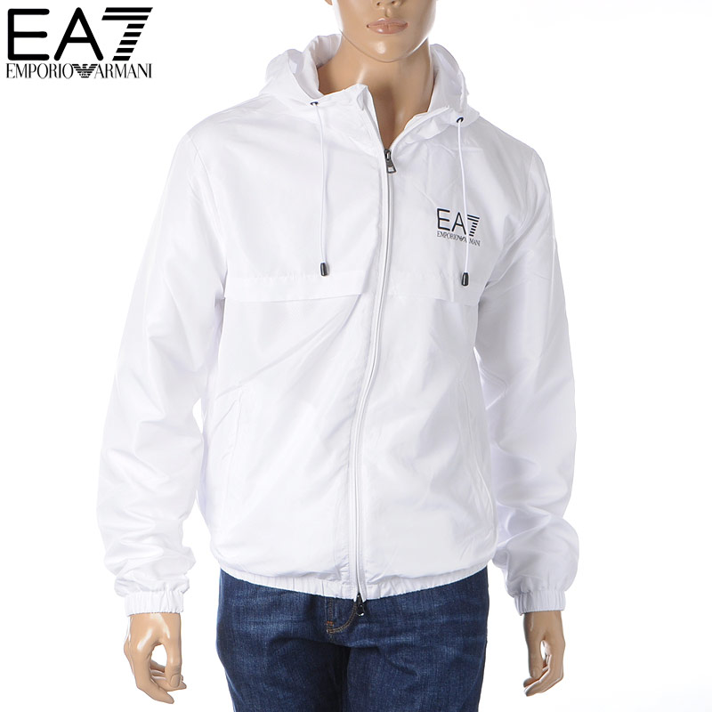 エンポリオアルマーニ EA7 EMPORIO ARMANI ナイロンジャケット ブルゾン メンズ 3HPB13 PN28Z ホワイト 2020春夏新作