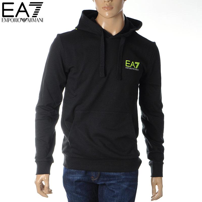 エンポリオアルマーニ EA7 EMPORIO ARMANI プルオーバーパーカー スウェット メンズ 3HPM29 PJ05Z ブラック 2020春夏新作
