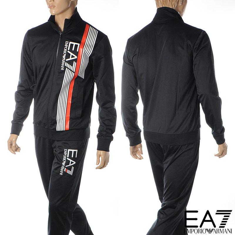 エンポリオアルマーニ EA7 EMPORIO ARMANI スウェットセットアップ メンズ ジャージ 3HPV07 PJ08Z ブラック 2020春夏新作