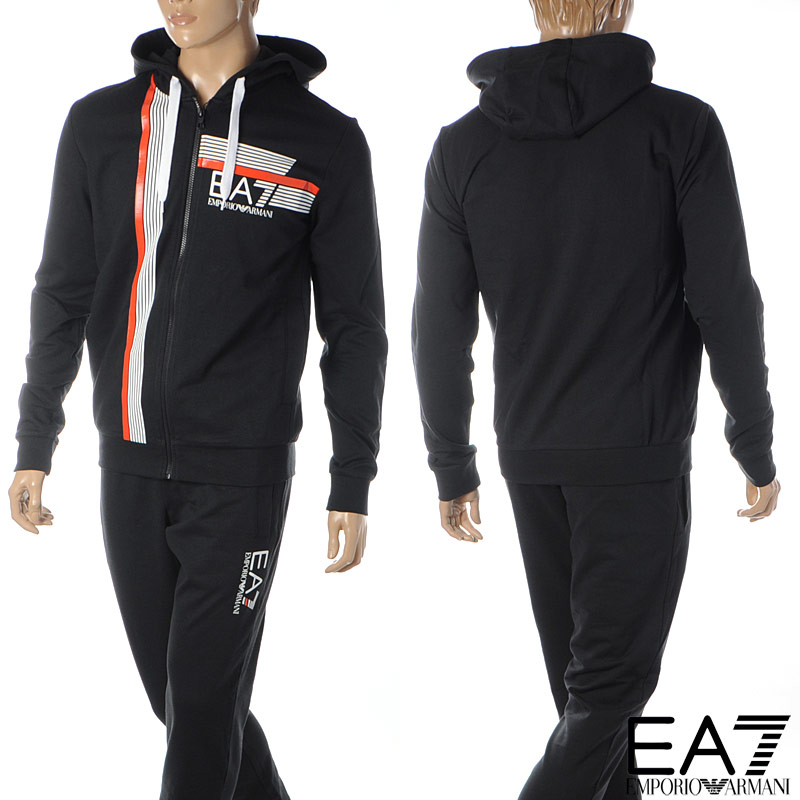エンポリオアルマーニ EA7 EMPORIO ARMANI スウェットセットアップ メンズ ジャージ 3HPV61 PJ05Z ブラック 2020春夏新作