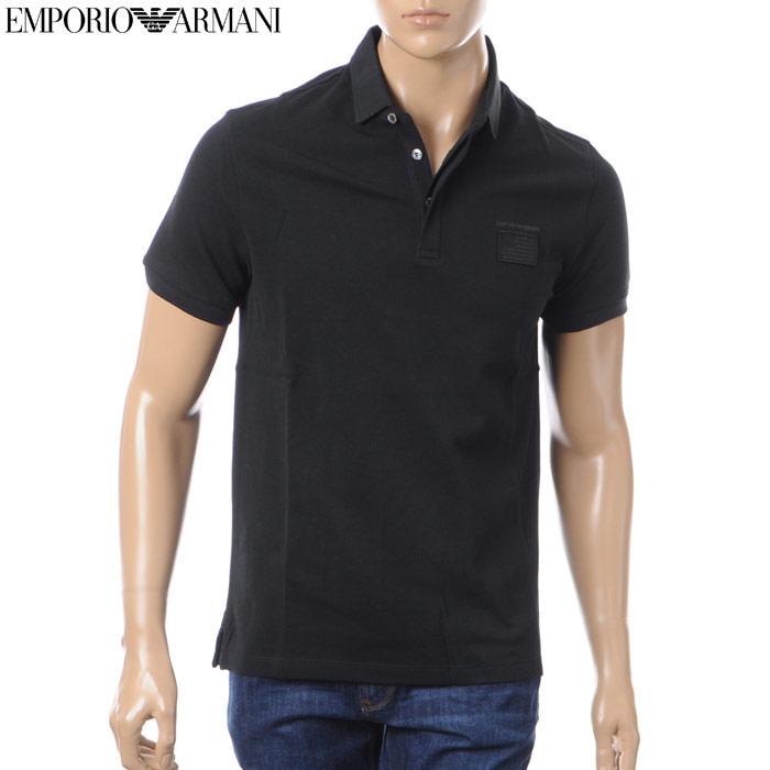 エンポリオアルマーニ EMPORIO ARMANI ポロシャツ メンズ 3Z1F75 1J08Z ブラック 2018春夏セール