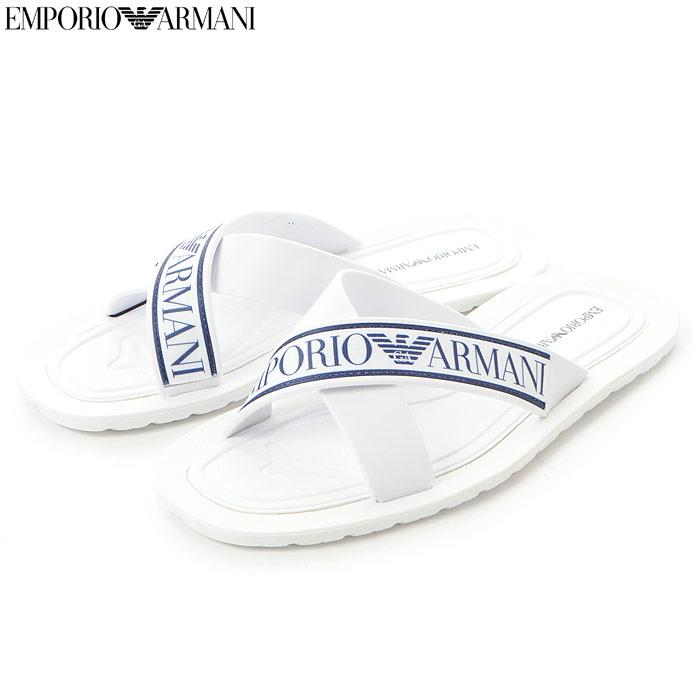 エンポリオアルマーニ EMPORIO ARMANI クロスサンダル メンズ X4P079 XL293 ホワイト