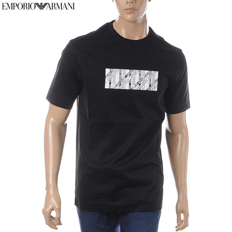 エンポリオアルマーニ EMPORIO ARMANI クルーネックTシャツ 半袖 メンズ 3G1TM5 1JTUZ ブラック