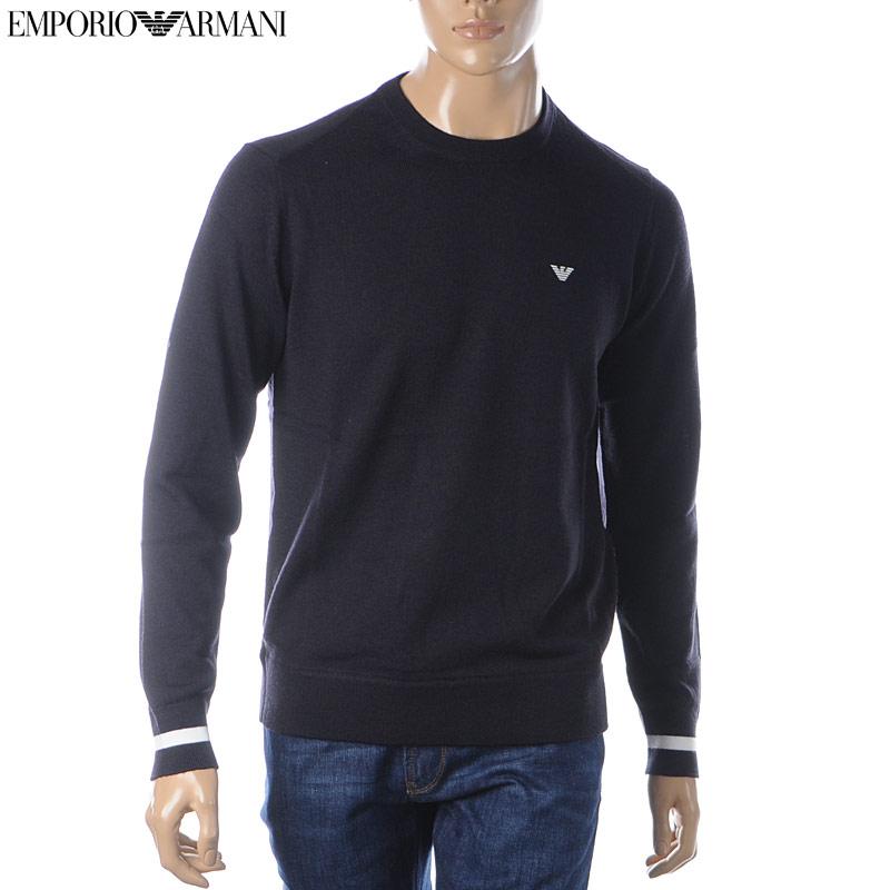 エンポリオアルマーニ EMPORIO ARMANI クルーネックニット セーター メンズ 6G1MXC 1MNXZ ネイビー