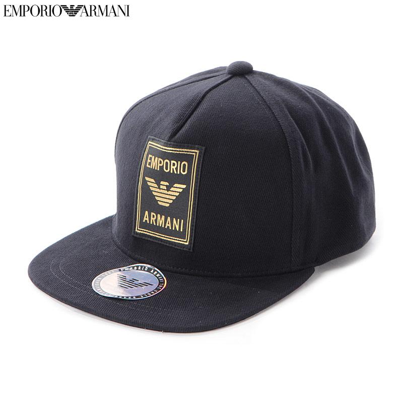エンポリオアルマーニ EMPORIO ARMANI ベースボールキャップ 帽子 メンズ 627540 9A562 ブラック