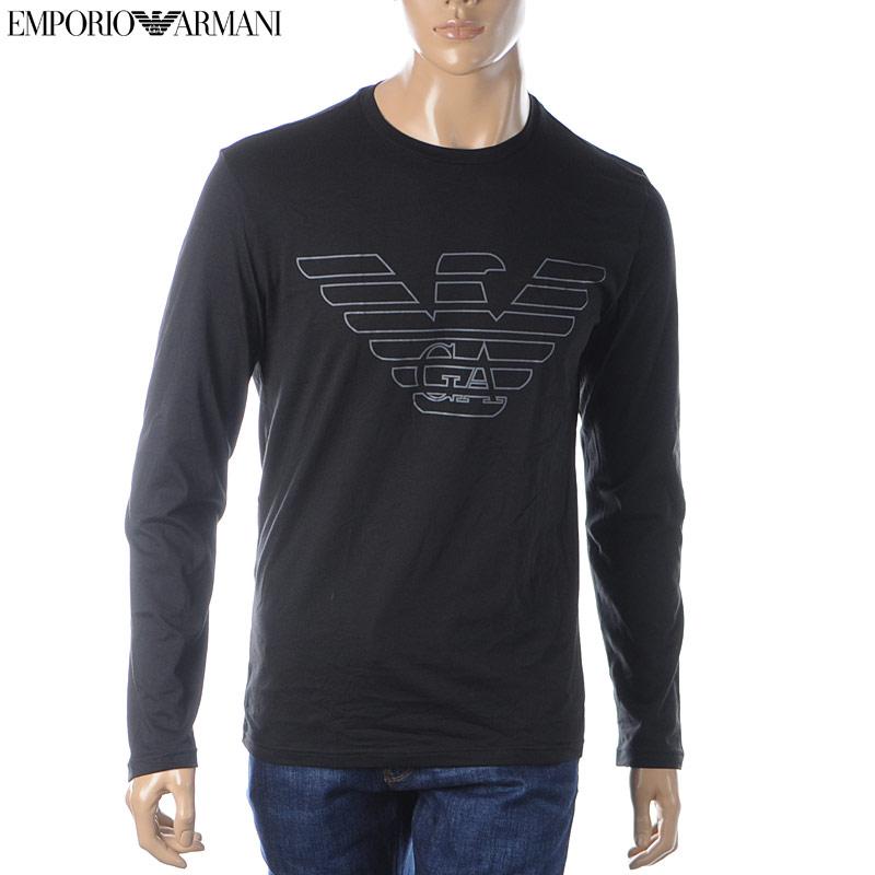 エンポリオアルマーニ EMPORIO ARMANI UNDERWEAR クルーネックTシャツ 長袖 メンズ 111287 9A578 ブラック 2019秋冬新作