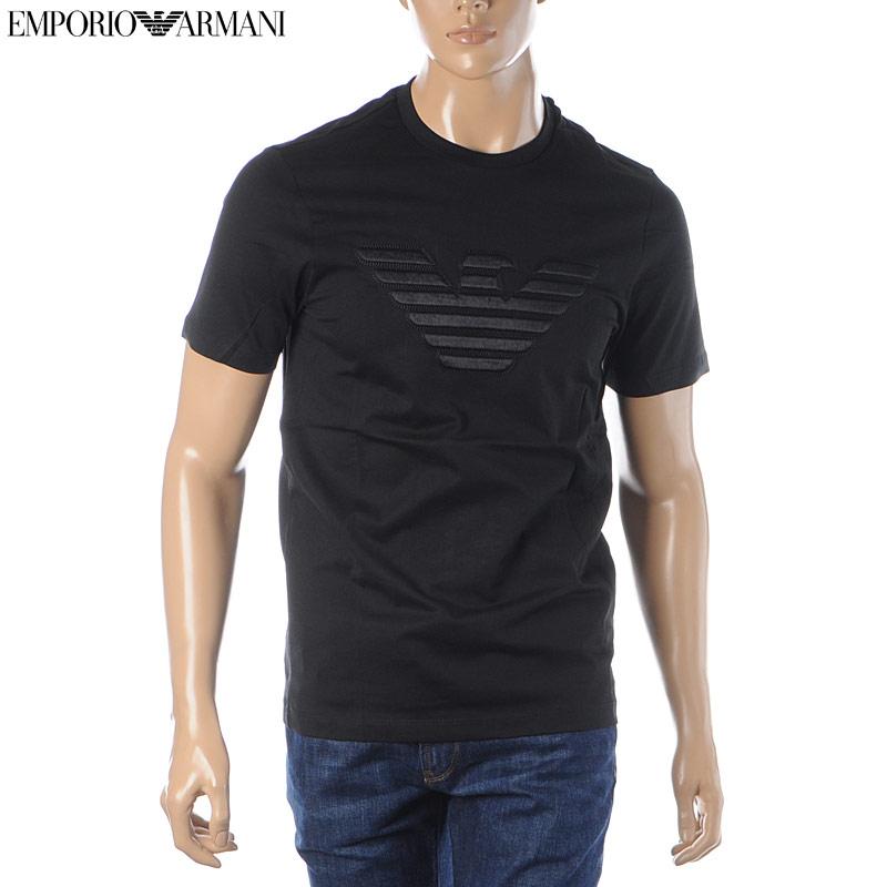 エンポリオアルマーニ EMPORIO ARMANI クルーネックTシャツ 半袖 メンズ 3H1T66 1J30Z ブラック 2020春夏新作