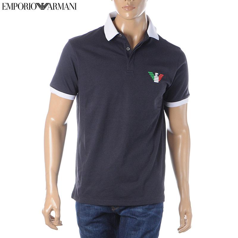 エンポリオアルマーニ EMPORIO ARMANI ポロシャツ 半袖 メンズ 3H1F9H 1J60Z ネイビー 2020春夏新作