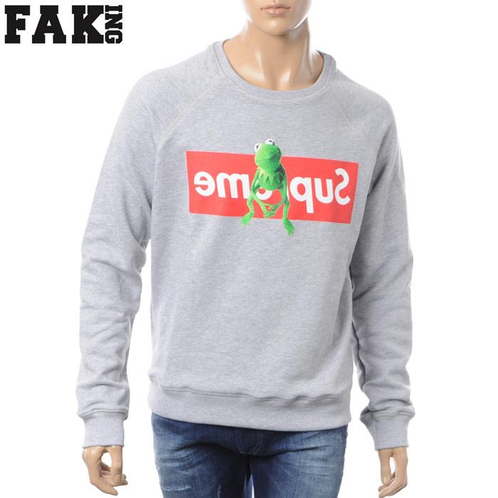 フェイキング FAKING クルーネックスウェット メンズ FAK050 グレー