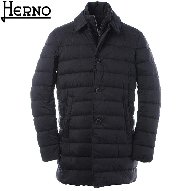 ヘルノ HERNO ダウンコート メンズ アウター L'IMPERMEABILE PI008ULE 19288 ブラック