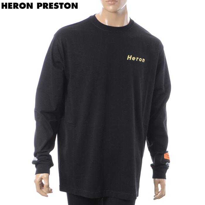 ヘロン プレストン HERON PRESTON クルーネックTシャツ 長袖 メンズ AIRBRUSH HERON LS T-SHIRT HMAB002F18600002 ブラック