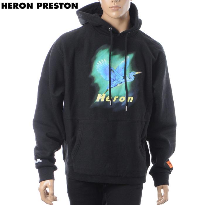 ヘロン プレストン HERON PRESTON プルオーバーパーカー メンズ AIRBR.HERON HOODED SWEATSHIRT HMBB005F18601002 ブラック 2018秋冬新作