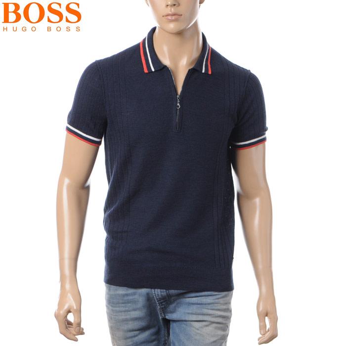 ヒューゴボス HUGO BOSS ORANGE ポロシャツ 半袖 メンズ 50333519 ネイビー