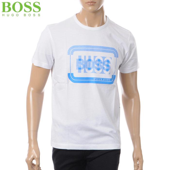 ヒューゴボス HUGO BOSS ATHLEISURE 50376008 クルーネックTシャツ 半袖 2018春夏セール メンズ 50376008 ホワイト BOSS 2018春夏セール, NANIWAYA:7d52aba3 --- jphupkens.be