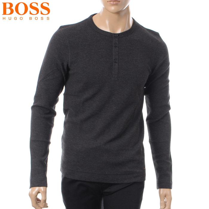 ヒューゴボス HUGO BOSS CASUAL ヘンリーネックTシャツ 長袖 メンズ 50378288 ブラック