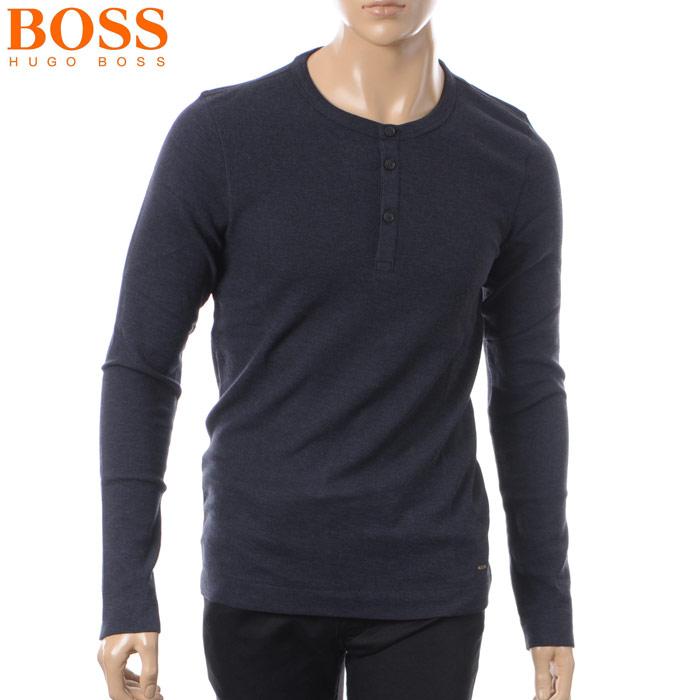 ヒューゴボス HUGO BOSS CASUAL ヘンリーネックTシャツ 長袖 メンズ 50378288 ネイビー 2018春夏セール