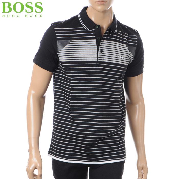 ヒューゴボス HUGO BOSS ATHLEISURE ポロシャツ 半袖 メンズ 50383558 ブラック