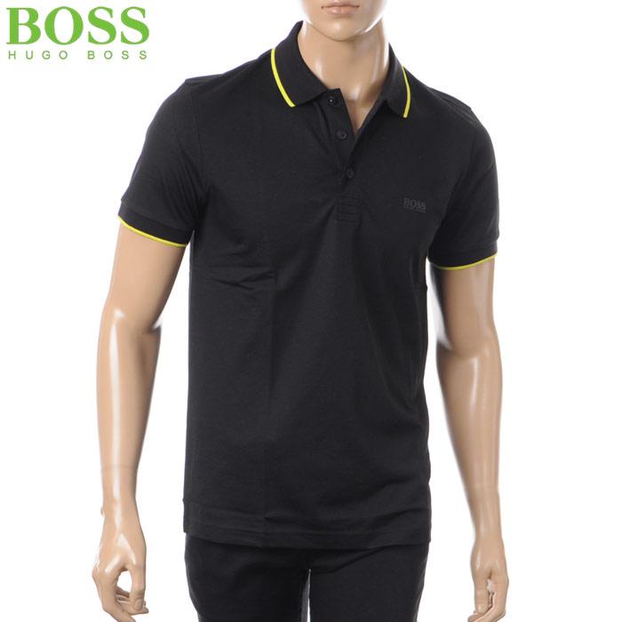ヒューゴボス HUGO BOSS ATHLEISURE ポロシャツ 半袖 メンズ 50379343 ブラック