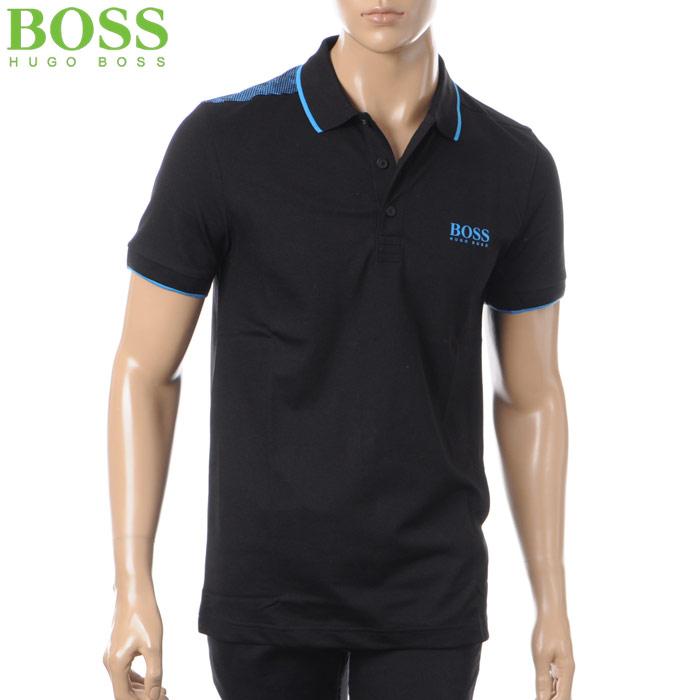 ヒューゴボス HUGO BOSS ATHLEISURE ポロシャツ 半袖 メンズ 50379302 ブラック