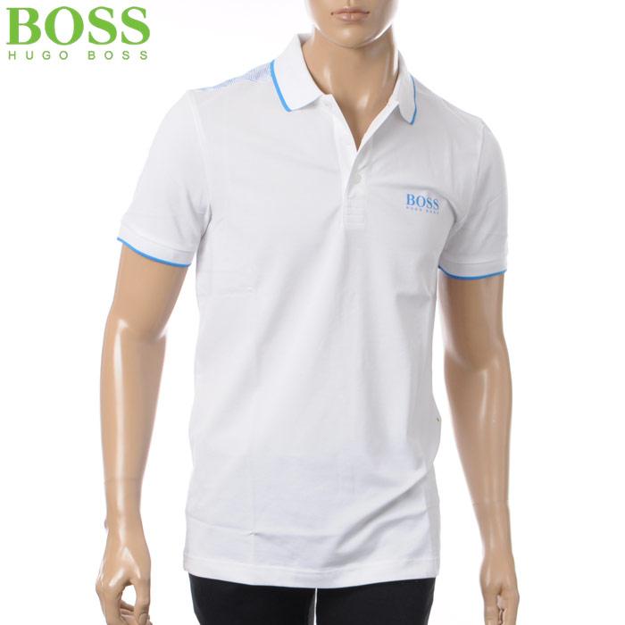 ヒューゴボス HUGO BOSS ATHLEISURE ポロシャツ 半袖 メンズ 50379302 ホワイト 2018春夏セール