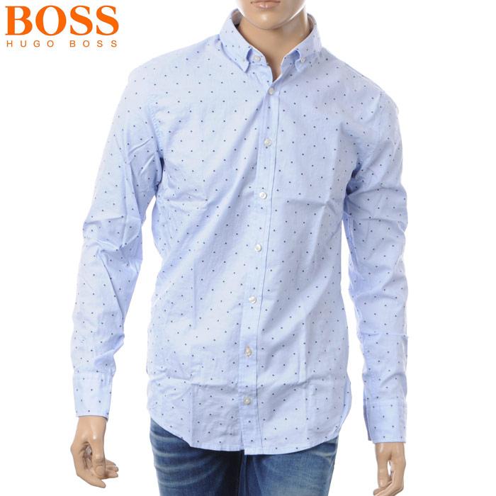 ヒューゴボス HUGO BOSS CASUAL カジュアルシャツ 長袖 メンズ 50382098 ブルー