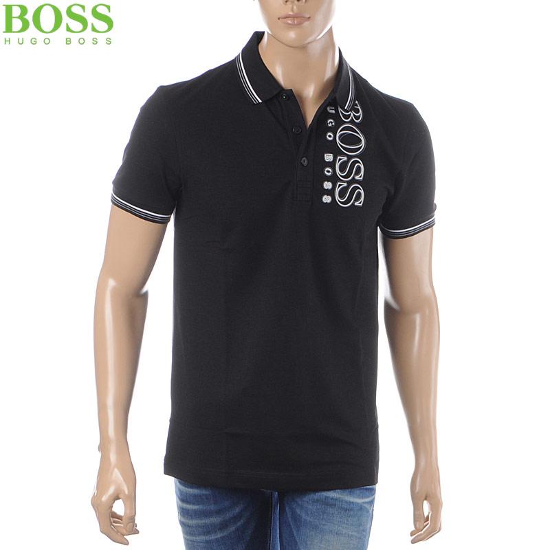 ボス ヒューゴボス BOSS HUGO BOSS ポロシャツ 半袖 メンズ 50399315 ブラック
